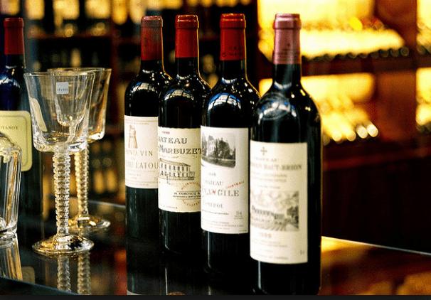 Yüksek kalite Fransız şarapları