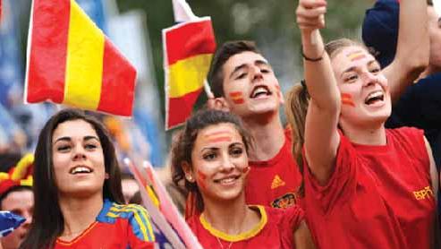 İspanya taraftarları