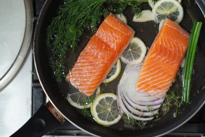 Poached Salmon, Lulea