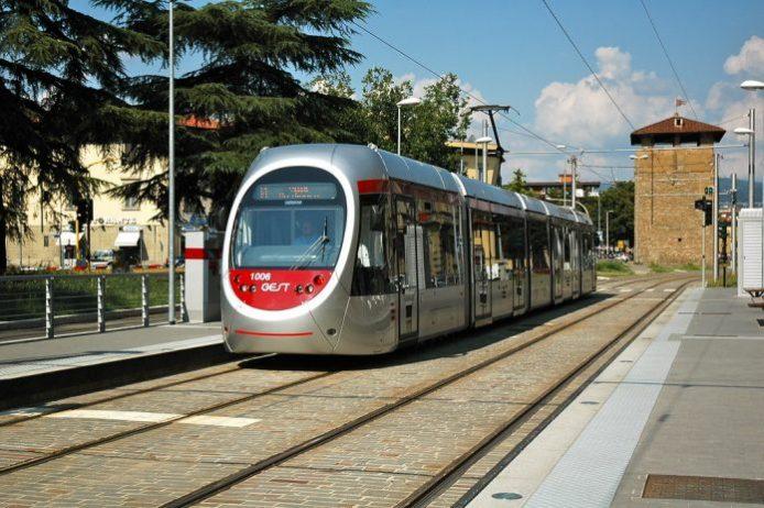 Floransa'da bir tramvay