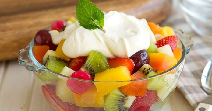 Regular and Cream Fruit Chaat