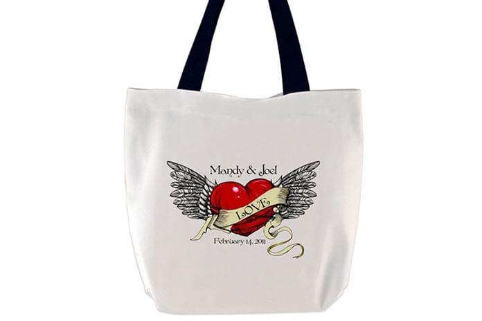 Desenli aşk çantası