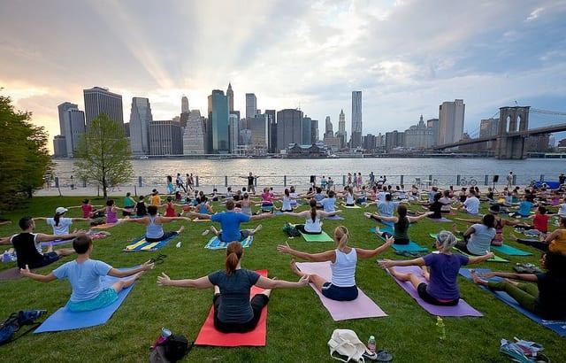 Central Park Hatha yoga