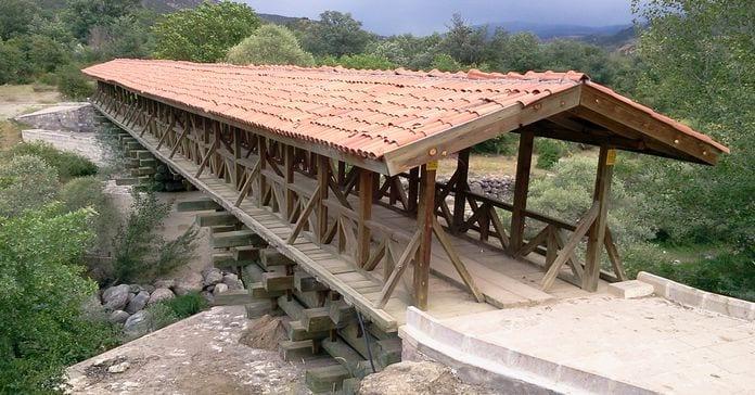 bayramören ahşap köprü