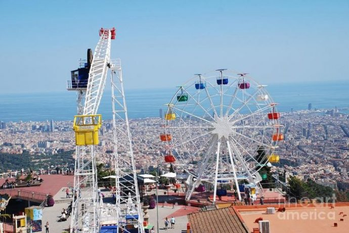 tibidabo-amusement park in barcelona
