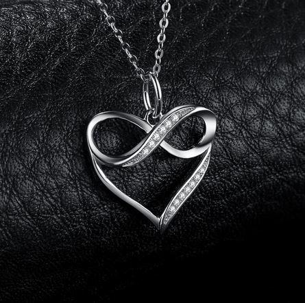 Aşk Kalp Gümüş Kolye