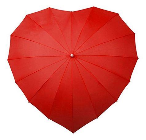 Kırmızı Kalpli Şemsiye