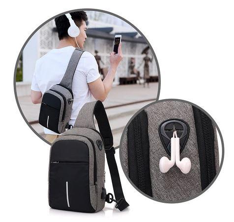 USB Askılı Çanta Erkek
