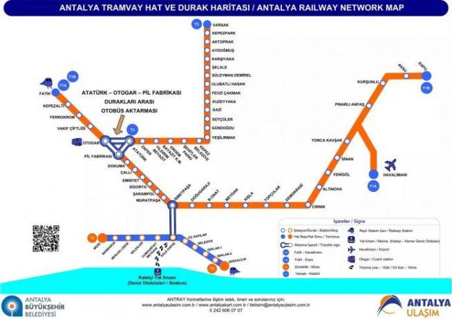 Antalya Tramvay Haritası