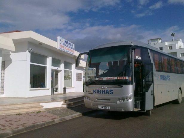 Kuzey Kıbrıs Güzelyurt - Ercan Havalimanı KIBHAS Otobüsü