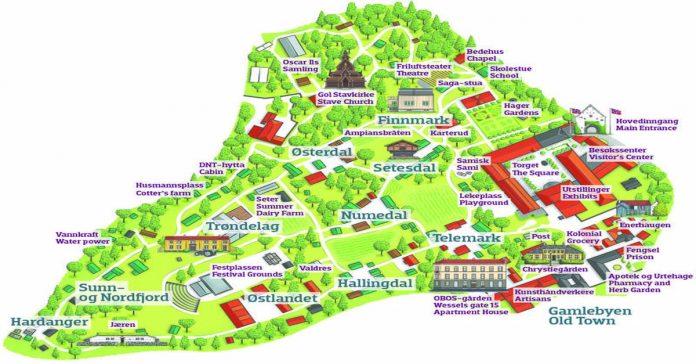 norsk folkmuseum haritası